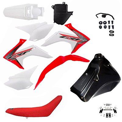 Kit Crf230 Amx Adaptável Carenagem Plastico + Tanque Banco
