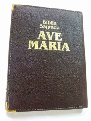 Biblia Ave Maria Media Marrom Capanga