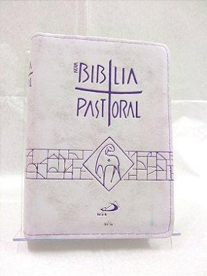 Nova Biblia Pastoral Bolso Ziper Lilás