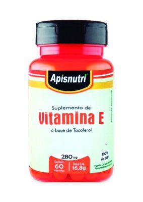 1004 Vitamina E 280mg 60 Cápsulas