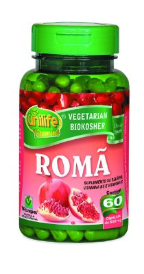 1149 Romã suplemento de selênio, vitamina B e vitamina C 500mg 60 Cápsulas