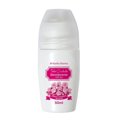 3805 TODO CUIDADO - DESODORANTE ROLL-ON - ROSAS & MANTEIGA DE KARITÉ - 50ml