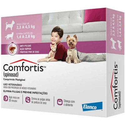 Comfortis Tablete 140mg para Cães de 2,3 a 4,5Kg e Gatos de 1,4 a 2,8 Kg