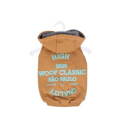 Casaco Moletom com Capuz High Quality Caqui