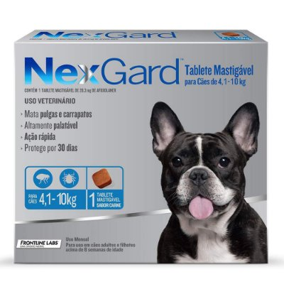 Antipulgas e Carrapatos  NexGard para Cães 4,10 a 10kg