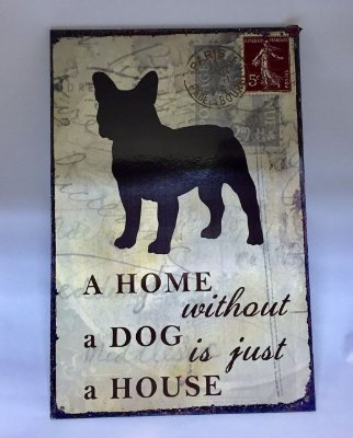 Placa Home Buldogue Frances