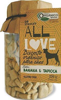 Biscoito Orgânico ALL LOVE de Banana e Tapioca 200gr