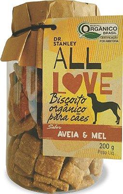Biscoito Orgânico ALL LOVE Aveia e Mel 200gr