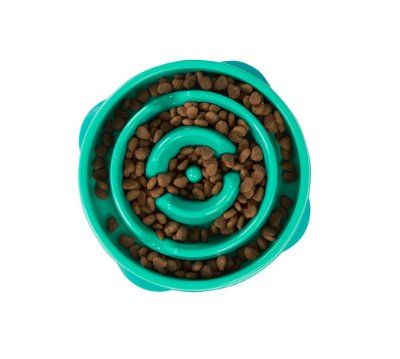 Comedouro Lento Fun Feeder Mini Verde