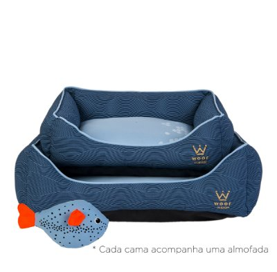 Cama Retangular P Marinho/Azul