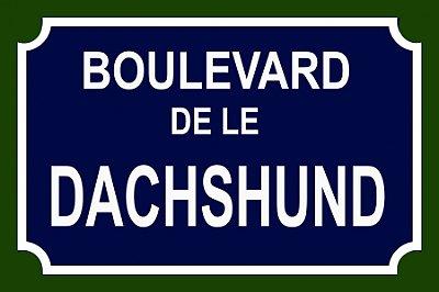 Placa Boulevard Dachshund