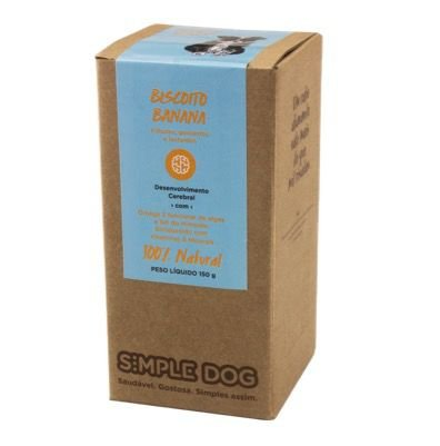 Biscoito Simple Dog Banana 150g
