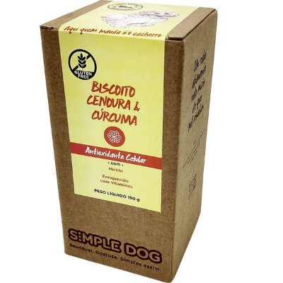 Biscoito Simple Dog Cenoura e Cúrcuma 150g