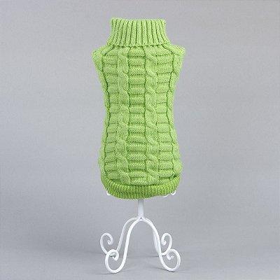 Tricô Trançado Verde