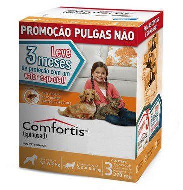 Combo Comfortis 270mg para Cães de 4,5-9 Kg e Gatos de 2,8-5,4 Kg