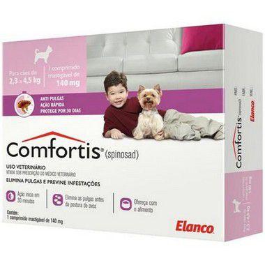 Comfortis 140mg para Cães: 2,3-4kg e Gatos: 1,9-2,7kg