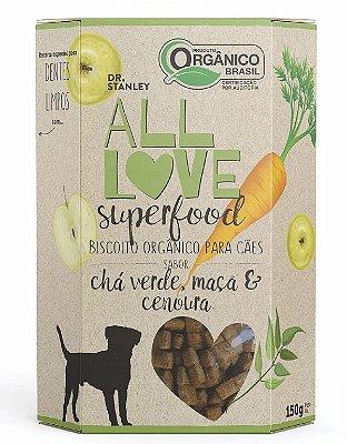 Biscoito Orgânico Chá Verde, Maçã e Cenoura 150gr