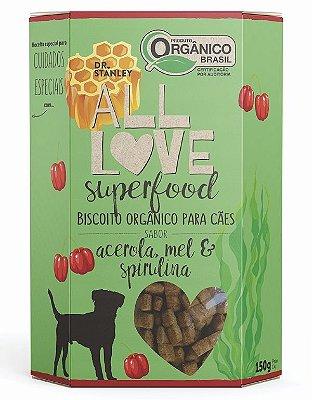 Biscoito Orgânico Acerola, Mel e Spirulina 150gr