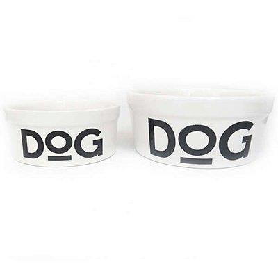 Comedouro Porcelana Dog Branco