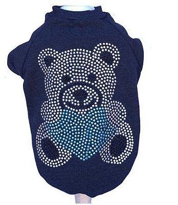 Moletom Ursinho Azul Mescla