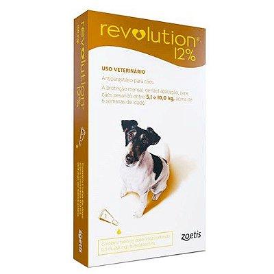 Revolution 12% para Cães 5,1 a 10,0kg