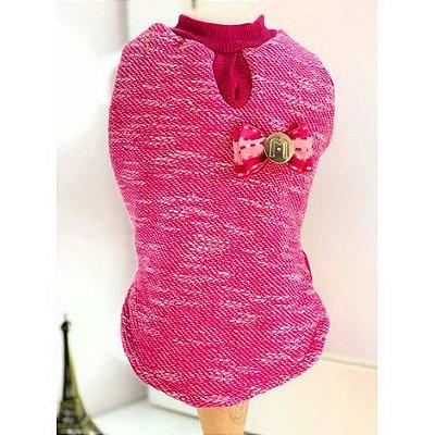 Capa Trico com Pelúcia Pink