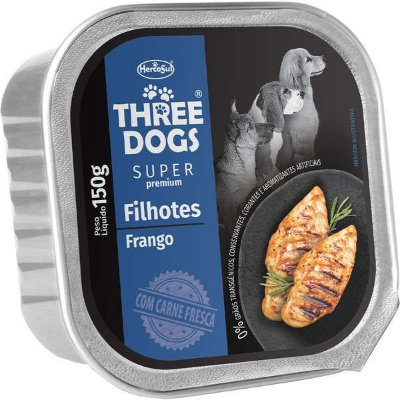 Three Dogs Filhotes Frango 150gr