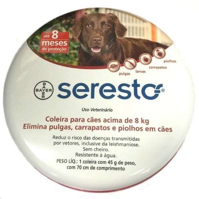 Coleira Anti Pulgas e Carrapatos Seresto  para Cães
