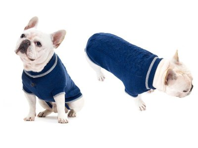 Suéter Tricô Trança Azul