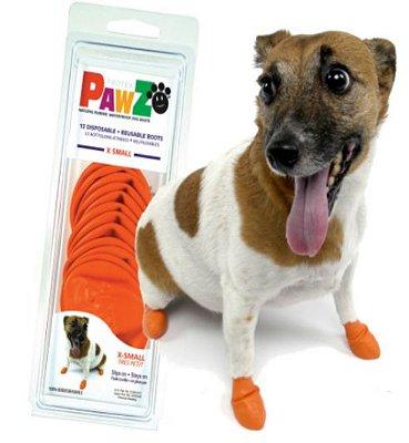 Botas Para Cachorros Pawz XS Laranja (4 unid)