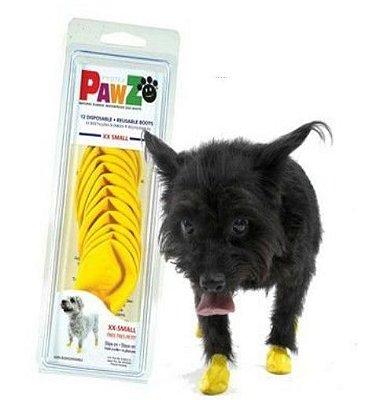 Botas Para Cachorros Pawz XXS  Amarelo (4 unid)