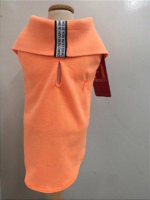 Camisa Polo Neon Laranja