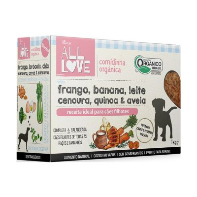 Comidinha Orgânica para Cães Filhotes 1kg
