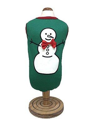 Regata Boneco de Neve Verde