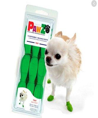 Botas Para Cachorros Pawz Tiny Verde (4 unid)