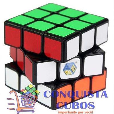 CUBO MÁGICO 3X3X3 YUXIN ZHISHENG FIRE PRETO PROFISSIONAL