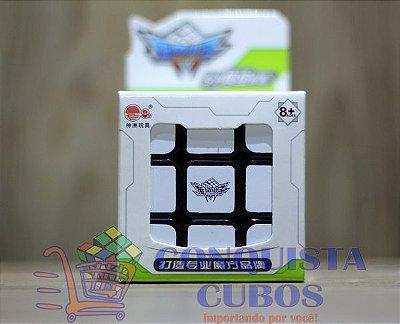 CUBO MÁGICO 3X3X3 CYCLONE BOYS PRETO PROFISSIONAL