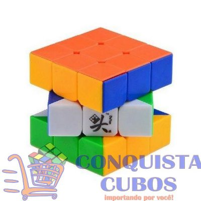 CUBO MÁGICO 3X3X3 DAYAN GUHONG V2 STICKERLESS (COLORIDO)