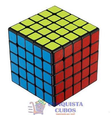 CUBO MÁGICO 5X5X5 MOYU BOCHUANG GT PRETO PROFISSIONAL
