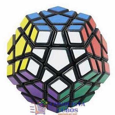 Dodecahedro Mágico Megaminx Yongjun Moyu Guanhu Preto