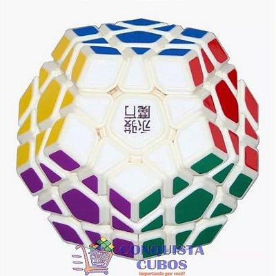 Dodecahedro Mágico Megaminx Yongjun Moyu Yuhu Five Branco