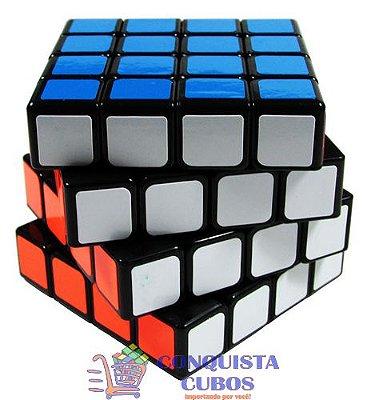 Cubo Mágico 4x4x4 Yongjun Moyu Guansu Preto