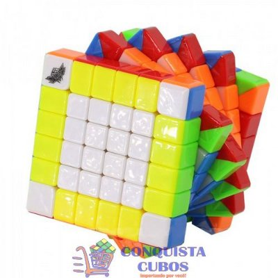 CUBO MÁGICO 6X6X6 CYCLONE BOYS FEILONG G6 STICKERLESS - COLORIDO