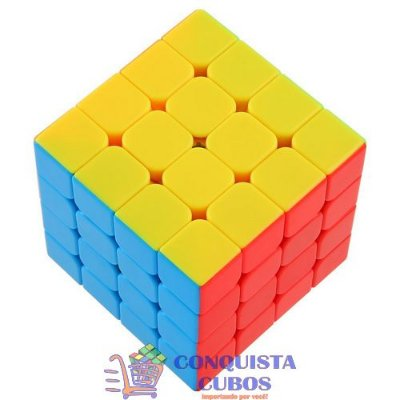 CUBO MÁGICO 4X4X4 MOYU AOSU STICKERLESS - COLORIDO