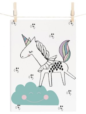 POSTER I BELIEVE IN UNICORNS - PASTEL