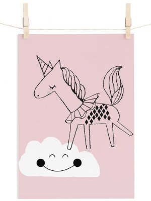 POSTER I BELIEVE IN UNICORNS - ROSA
