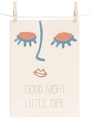 POSTER LITTLE GIRL GOOD NIGHT