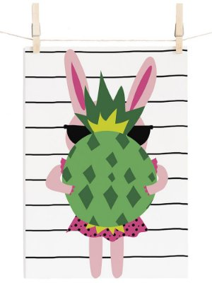 POSTER CUTE PINA STRIPES