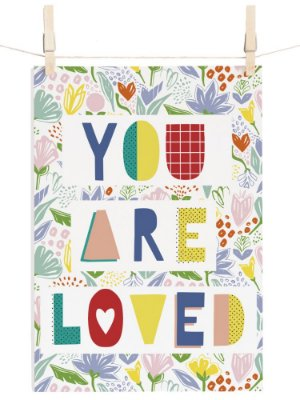 POSTER JARDIM YOU ARE LOVED BOTÂNICA