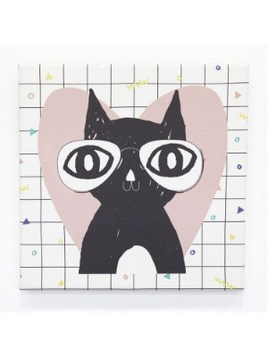 QUADRINHO CANVAS GATO LOVER